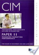 Cim - 11 Managing Marketing Performance