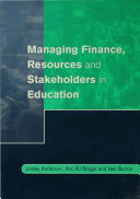 Managing Finance, Resources and Stakeholders in Education