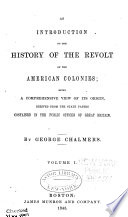 An Introduction to the History of the Revolt of the American Colonies Book PDF