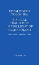 From Joseph to Joshua