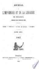 Journal de l'imprimerie et de la librairie en Belgique