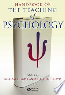 Handbook of the Teaching of Psychology