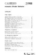 Pdf Cahiers roumains d'études littéraires