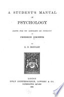 A Student s Manual of Psychology Book