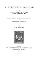 A Student s Manual of Psychology