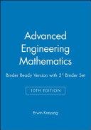 Advanced Engineering Mathematics 10th Edition Binder Ready Version with 2 Binder Set Book