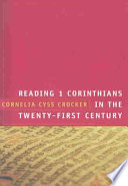 Reading 1 Corinthians in the Twenty First Century Book PDF