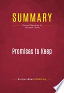 Summary  Promises to Keep