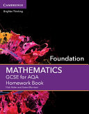 GCSE Mathematics for AQA Foundation Homework Book