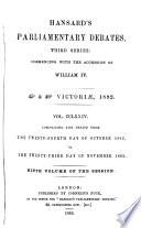 The Parliamentary Debates (Authorised Edition).