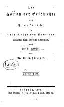 Der Roman der Geschichte von Frankreich