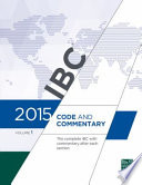 2015 International Building Code Commentary  , Band 1