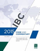 2015 International Building Code Commentary Book