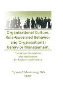 Organizational Culture, Rule-Governed Behavior and Organizational Behavior Management Pdf/ePub eBook