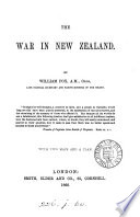 The war in New Zealand