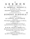 A Sermon  on Matt  xi  5      on the introduction of Sunday Schools  To which is added a large appendix