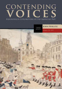 Contending Voices Volume I To 1877 Book PDF