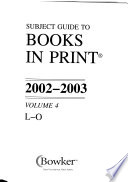 Subject Guide to Books in Print