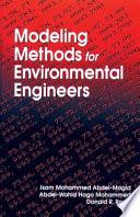 Modeling Methods For Environmental Engineers Book PDF