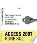 Access 2007 Pure SQL