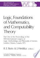 Logic, Foundations of Mathematics, and Computability Theory