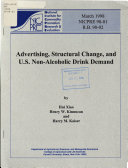 Advertising Structural Change And U S Non Alcoholic Drink Demand Book PDF