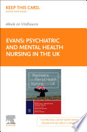 """Psychiatric and Mental Health Nursing in the UK, E-Book"" by Katie Evans, Debra Nizette, Anthony O'Brien, Catherine Johnson"
