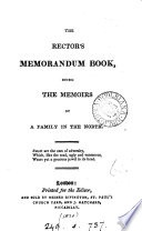 The rector's memorandum book [ed., or probably written, by F.E. King]. Pdf/ePub eBook