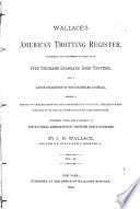 United States Trotting Association Register Book PDF