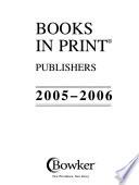 Books in Print, 2005-2006