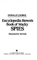 Encyclopedia Brown s Book of Wacky Spies