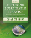 Fostering Sustainable Behavior Book