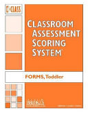 Classroom Assessment Scoring System  Class  Toddler  Forms  Pack of 10