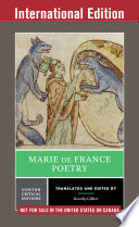 Marie de France  Poetry  International Student Edition   Norton Critical Editions