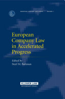 European Company Law in Accelerated Progress