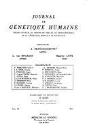 Journal de génétique humaine