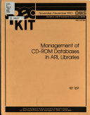 Management of CD ROM Databases in ARL Libraries