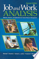 Job and Work Analysis  : Methods, Research, and Applications for Human Resource Management