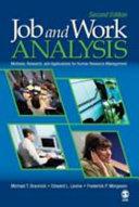 Pdf Job and Work Analysis