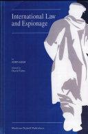 International Law and Espionage