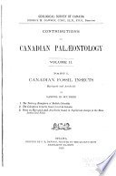 Contributions to Canadian Palaeontology  pt  I II  Canadian fossil insects  myriapods and arachnids