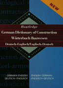 Routledge German Dictionary of Construction