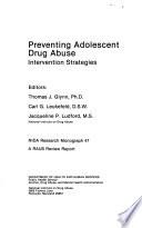 Preventing Adolescent Drug Abuse