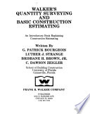 Walker's Quantity Surveying and Basic Construction Estimating