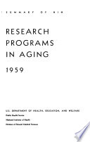Research Programs in Aging
