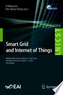 Smart Grid and Internet of Things Book