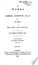 The Works Of Samuel Johnson Lives Of Eminent Persons Letters