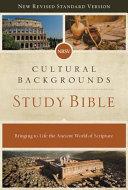 NRSV, Cultural Backgrounds Study Bible, Hardcover, Comfort Print