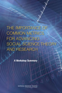 The Importance of Common Metrics for Advancing Social Science Theory and Research