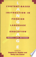 Content Based Instruction In Foreign Language Education